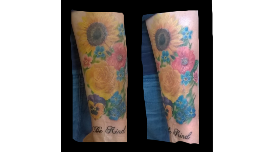 Realism Flowers Forearm