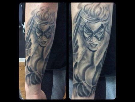 Black Cat  Marvel Comics  Comic Book Forearm