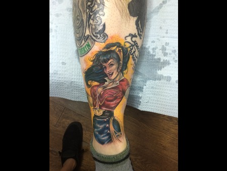 Ant Lucia  Wonder Woman  Dc Comics Lower Leg