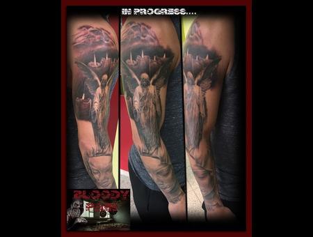 Angel Tattoo  Holy Tattoo  Holy Mary Arm