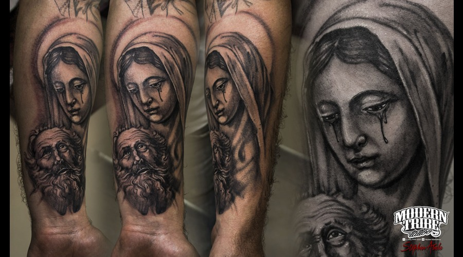 Custom Virgin Mary  Religious Arm