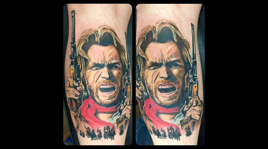 Clinteastwood  Outlaw  Colour  Color  Realism  Portrait   Lower Leg
