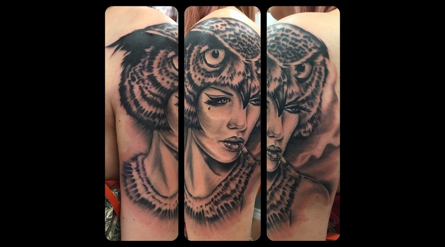 Brianviveros  Viveros  Owl  Realism  Portrait  Dirty  Sleeve Arm