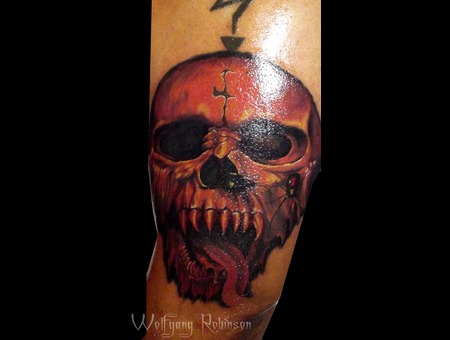 Skull  Vampire  Urban Ink  Horror Arm