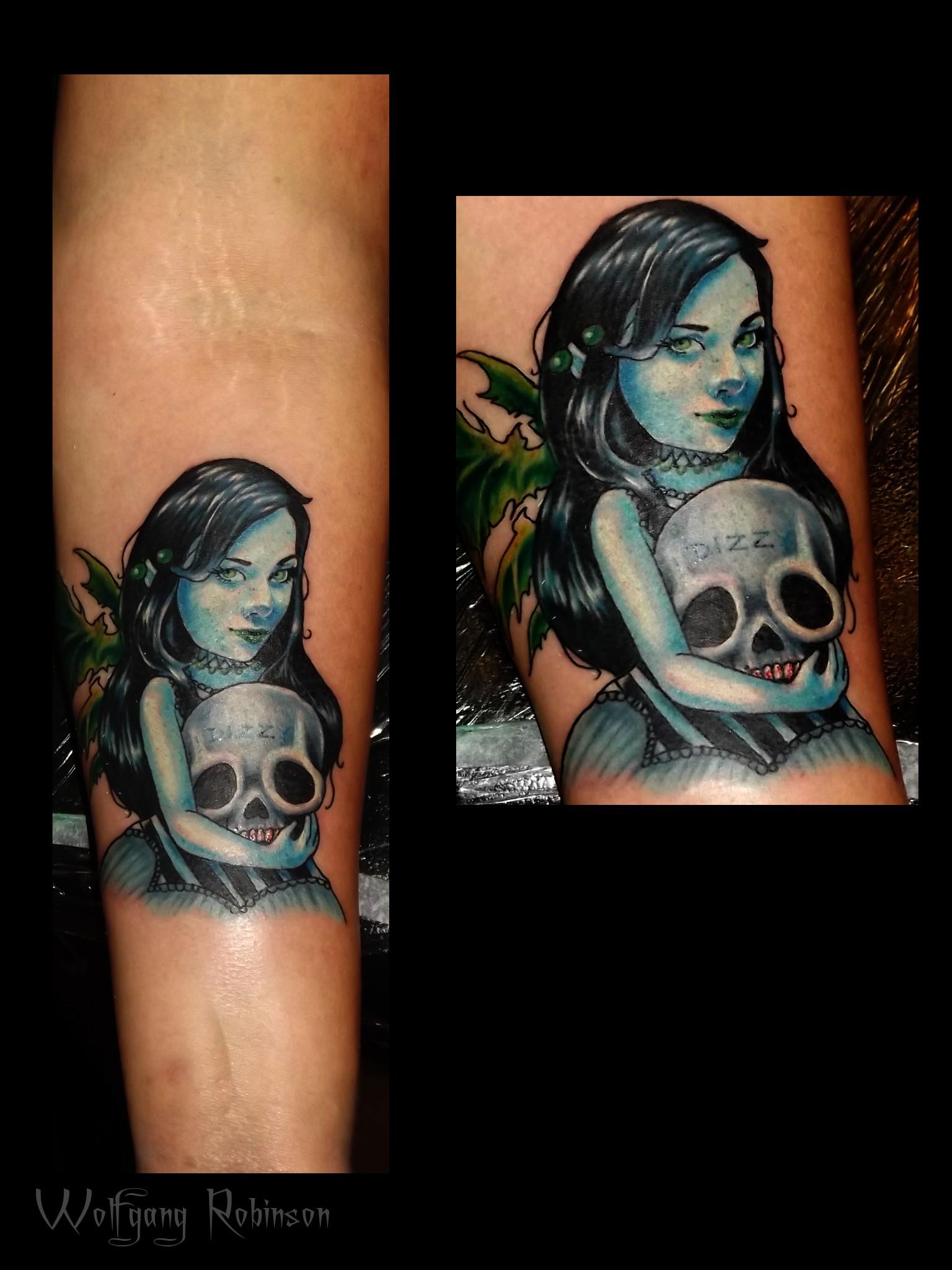 small tattoo - skull