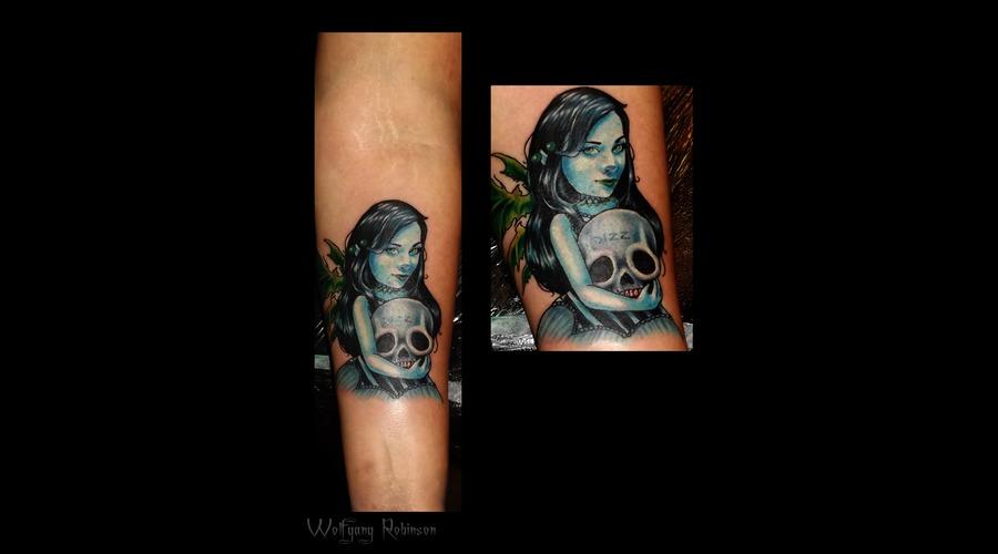 Color Portrait  Horror Arm