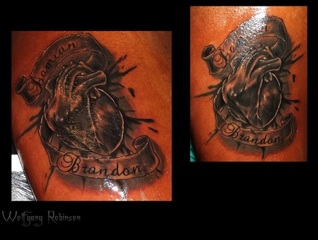 Urban Ink  Heart And Banner Arm