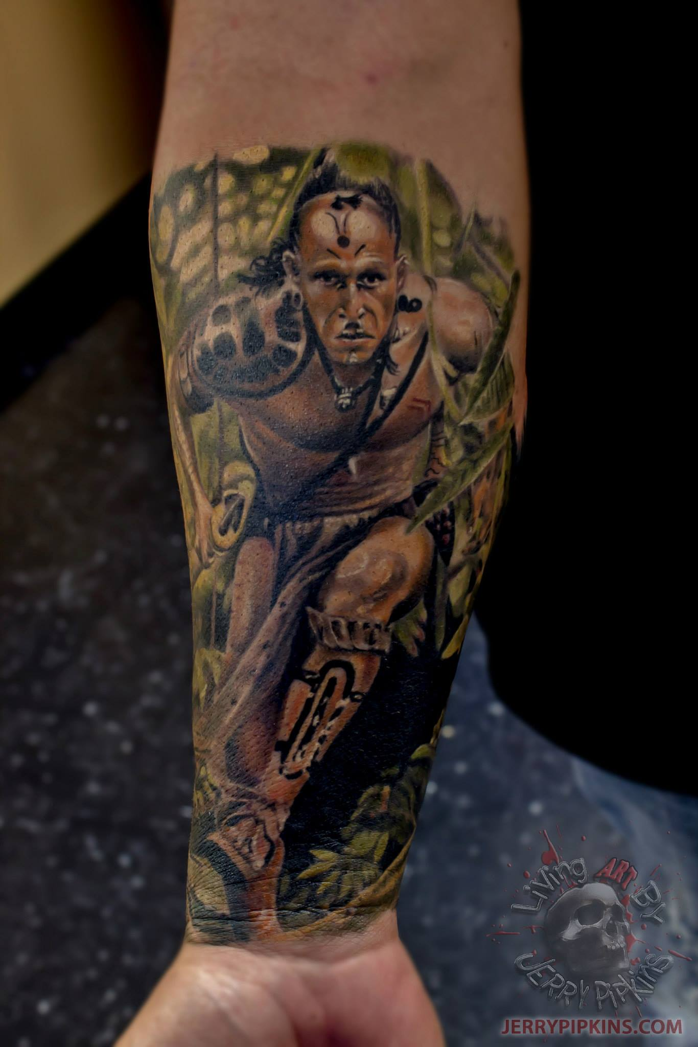 Did this today. A picture from the movie apocalypto. # ...  |Apocalypto Tattoo