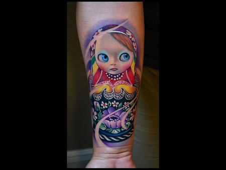 Matrioshka  Russian Doll  Original Design Forearm