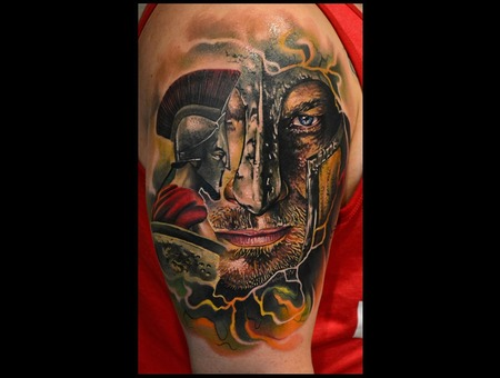 Spartan  Realism  Warrior  Color Portrait Arm