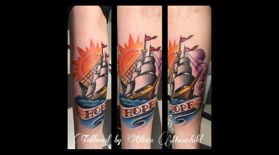 #Boattattoo #Boat #Ink #Tattoo  Forearm