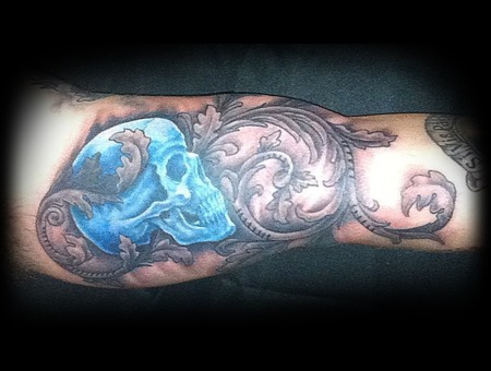 Skull  Blue Color