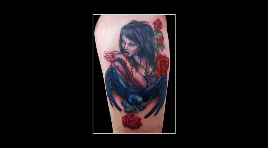 Missnico  Nico  Allstyletattoo  Berlintattoo  Vampire  Crow  Roses  Best Arm