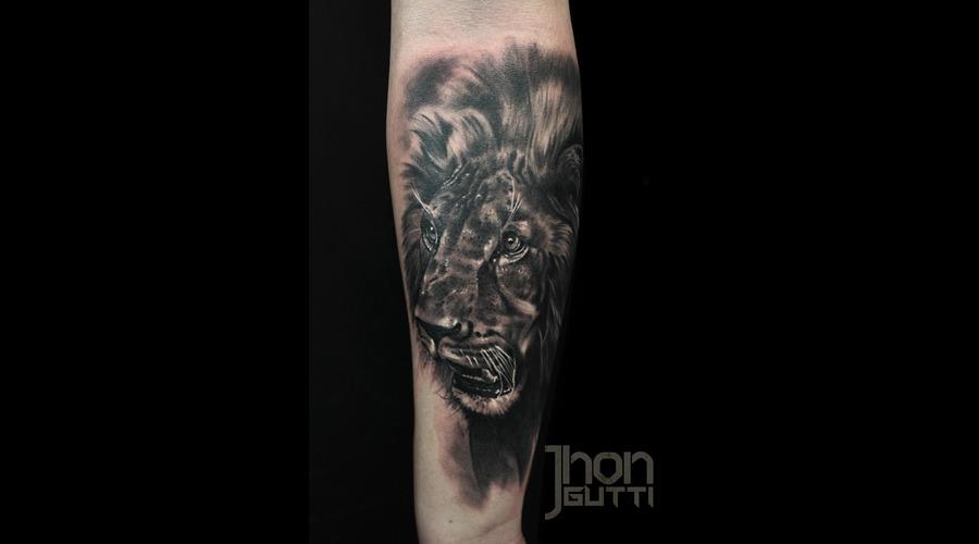 Lion Portrait  Realistic Forearm