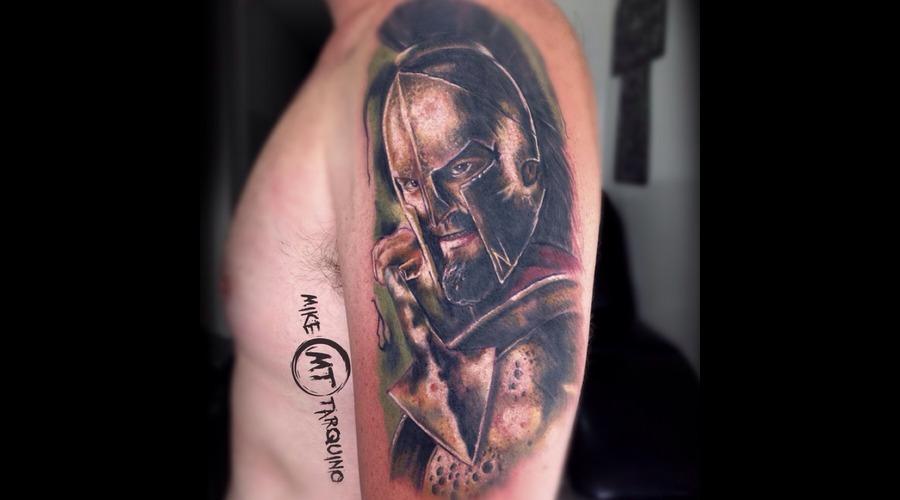 300  Spartan  Realism  Tattoo  Miketarquino Shoulder