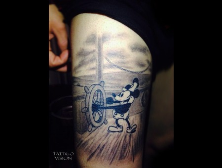 Legendary Cartoon Motiv Mickey Mouse Lower Leg