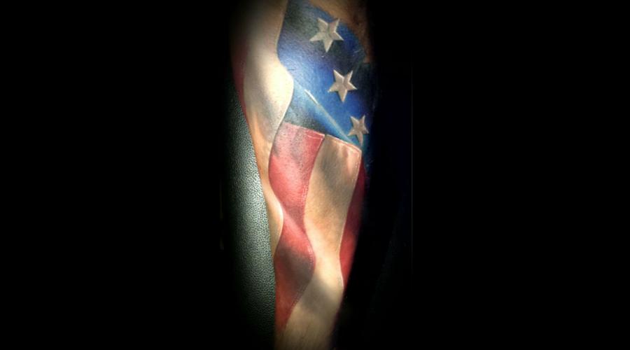 Color  America  Flag  Realistic Forearm