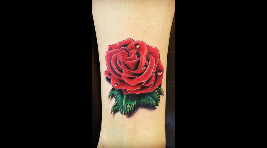 Rose  Rose Tattoo Lower Leg
