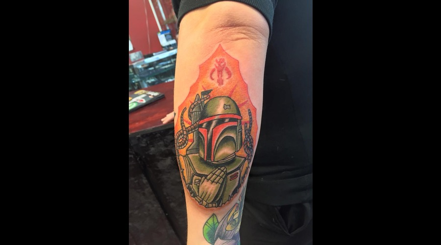 Bobafett  Starwars  Star Wars Tattoo  Boba Fett Forearm