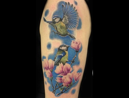 Bird  Flower  Realistic Arm