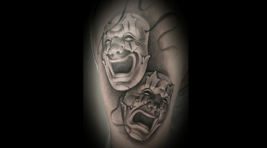 Black And Grey   Realistic   Smile Now Cry Later  Oldschool Arm