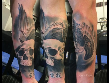 Realistic  Realism  Art  Tattoo  Skull  Forearm