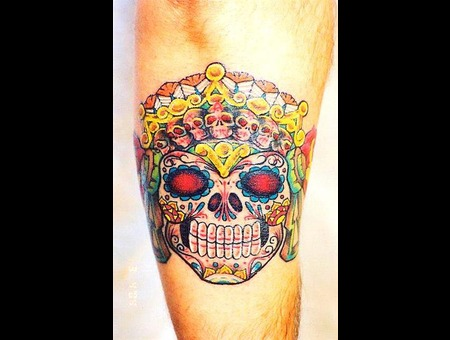 Day Of The Dead  Sugar Skull Arm
