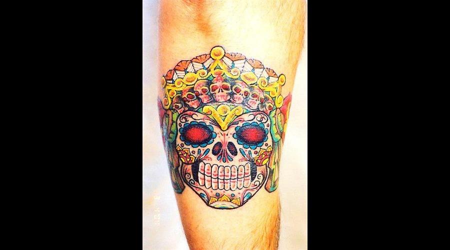 Day Of The Dead  Sugar Skull Arm