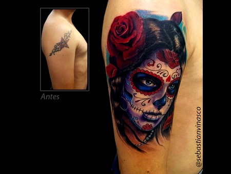 Catrina  Color Tattoo  Katrina  Diadelosmuertos