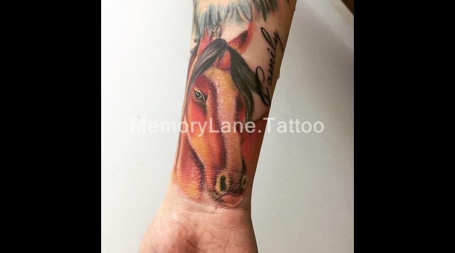 Horse Custom Watercolor Color Painting Forearm Animal Custom Forearm
