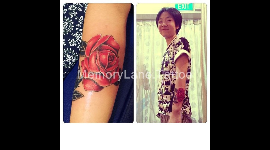 Flower Color Watercolor Rose Forearm