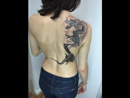 Realism Black Grey Back