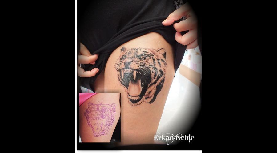Tattoo  Tattoos  Tiger  Tigertattoos Thigh