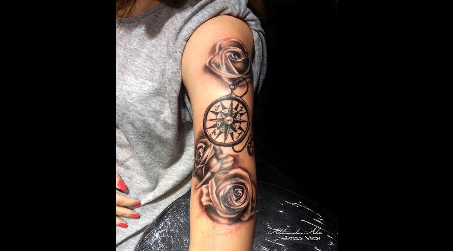 Roses  Compass Shoulder
