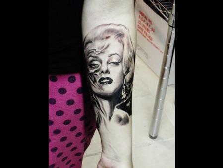 Zombie Marilyn Monroe  Forearm