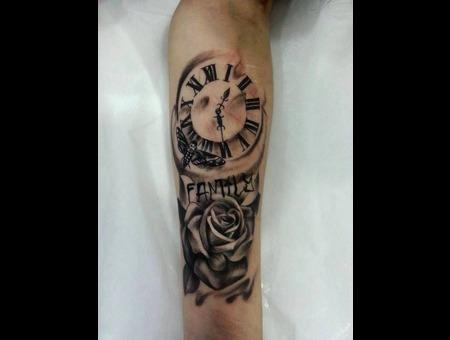 Rose & Clock