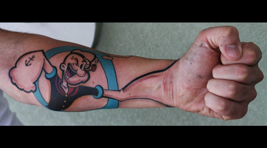 Popeye Color Forearm