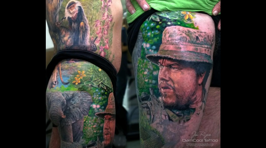 Elephant   Mark Wahlberg   Famous   Celebrity   Portrait   Realism    Thigh