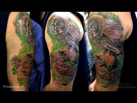 Portrait   Wildlife   Owl   Realism   Memorial Tattoo  Arm