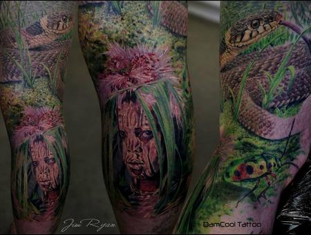 Wildlife  Tribal   Snake   Tribes   Realism   Portraits    Lower Leg