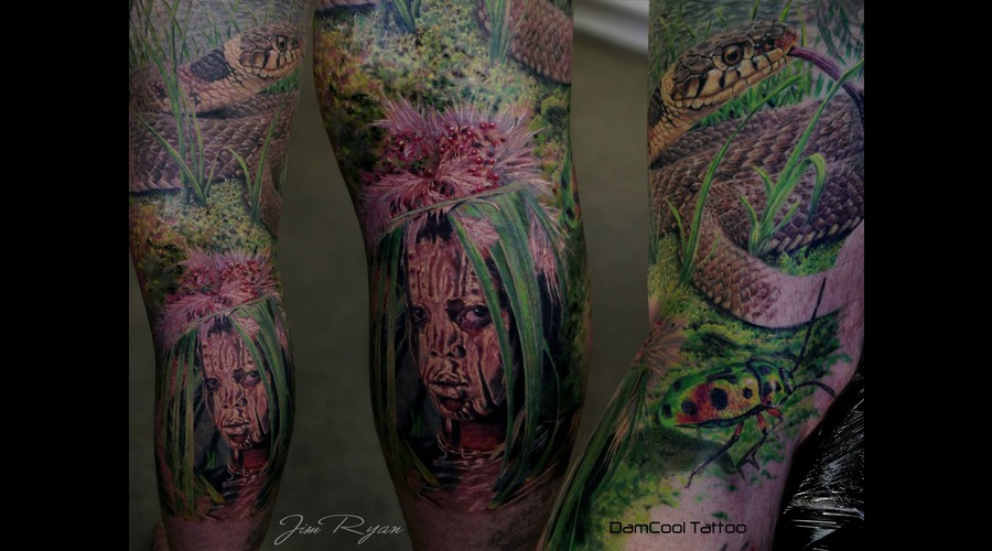 Wildlife  Tribal   Snake   Tribes   Realism   Portraits    Lower Leg