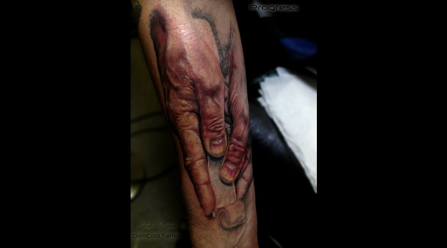 Hand Tattoo   Realism  Arm