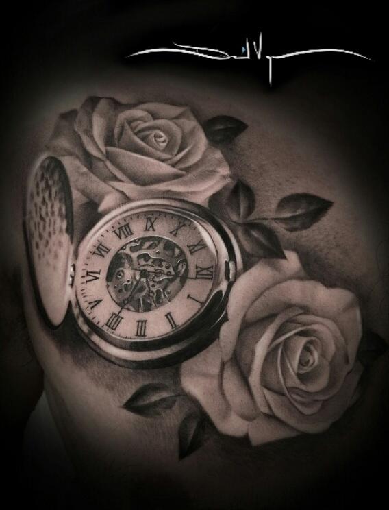 Trueartists david vega for Stop watch tattoos