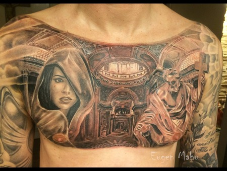 Realistic  Realism  Art  Tattoo Chest