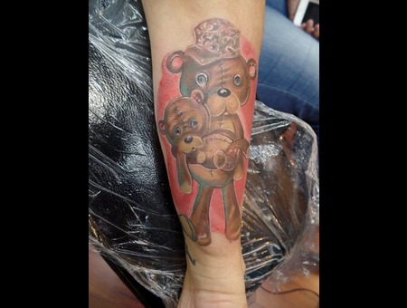 Cartoon Teddy Bears Forearm