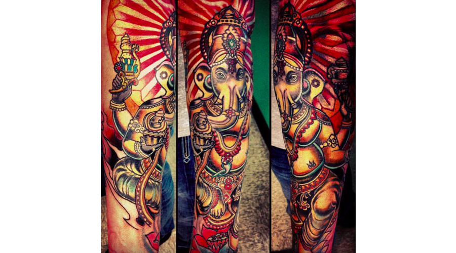 Ganesh  Colorful  Mandala  Spiritual Arm
