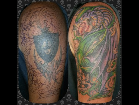 Cover Up  Dragon  Cobra  Skulls  Custom Arm