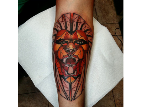 Geometric  Lion Forearm