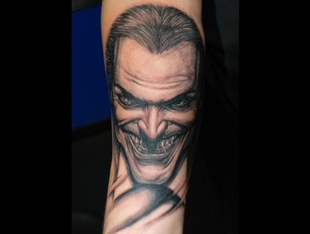 Joker Jokermovie Jokertattoo Jester  Black White