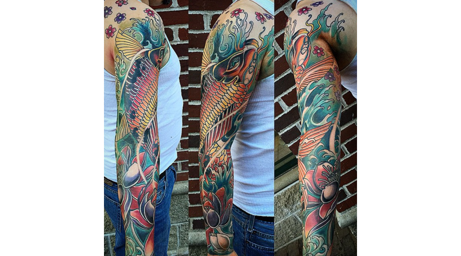 Koi  Japenese  Sleeve  Arm